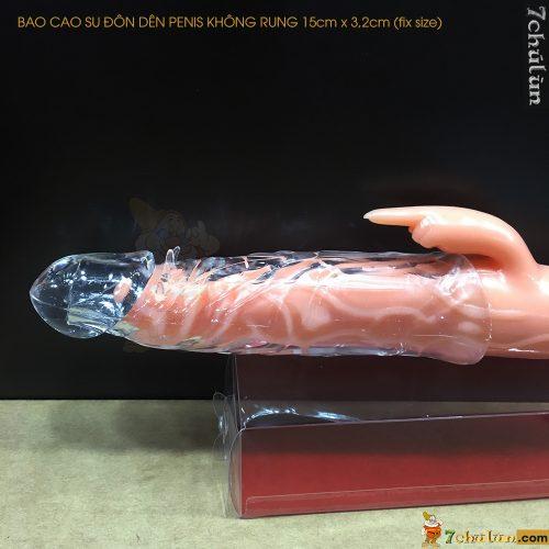Bao Cao Su Don Den Tang Kich Thuoc Penis Trong Suốt