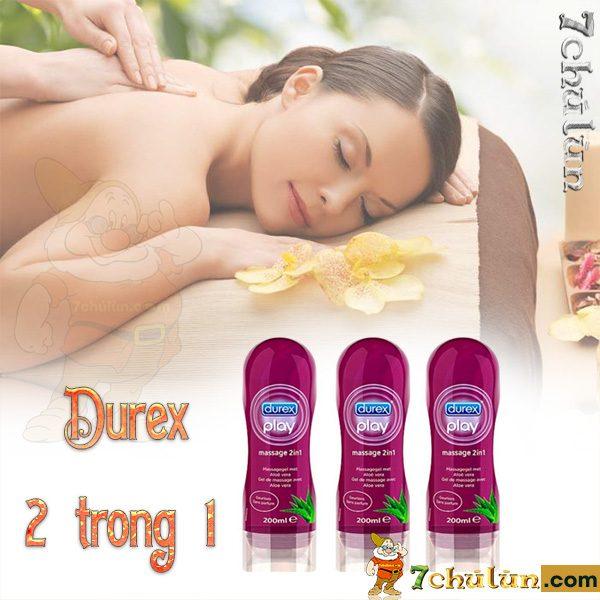 Gel Boi Tron Massage 2 Trong 1 Durex Matxa tang cam giac suc song cho vo