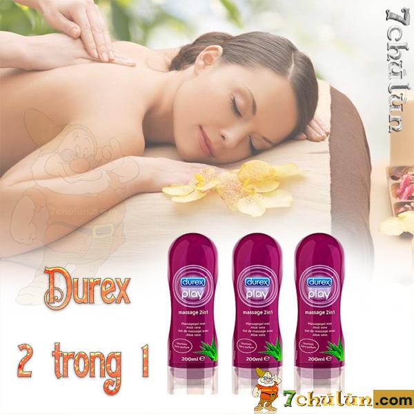 Gel Boi Tron Durex Massage 2 Trong 1 Matxa tang cam giac suc song cho vo