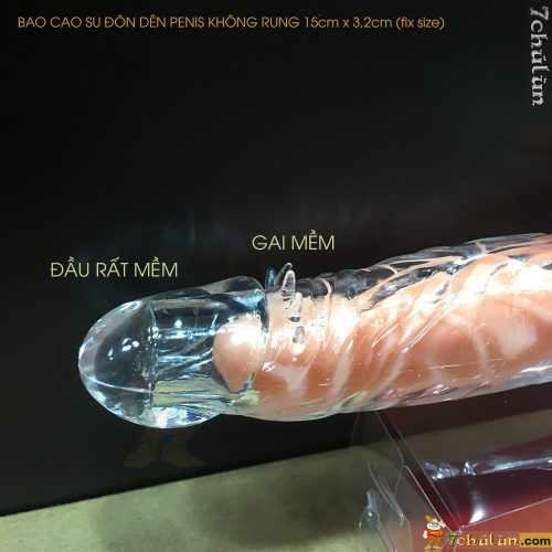 Bao Cao Su Don Den Tang Kich Thuoc Penis Trong Suốt tăng kích thước