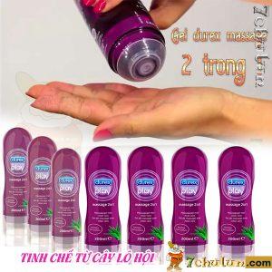 Gel Boi Tron Massage 2 Trong 1 Durex Chat Boi Tron Cho Vo Chong Gan Nhau