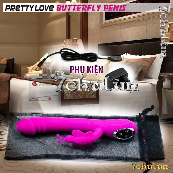 Duong vat gia da nang rung ngoay Pretty Love Butterfly Penis