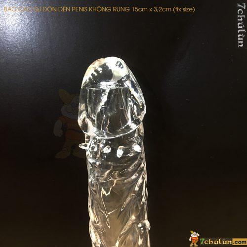 Bao Cao Su Don Den Tang Kich Thuoc Penis Trong Suốt gân gai