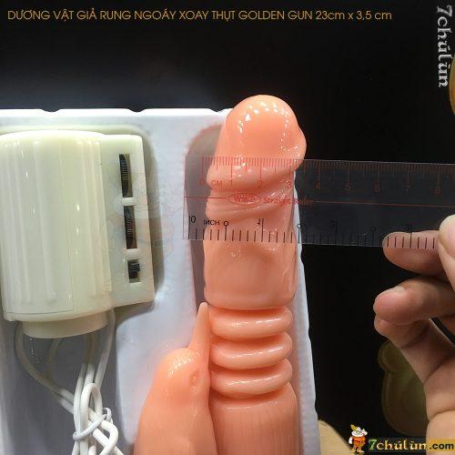 Duong Vat Gia Rung Ngoay Xoay Thut Golden Gun Kich Thuoc Chau A Nho Gon