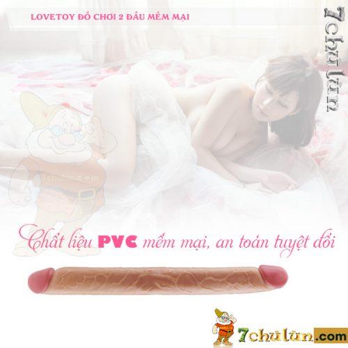 Duong Vat Gia 2 Dau Cho Les Hang Khung Lovetoy Double chat lieu nhua deo