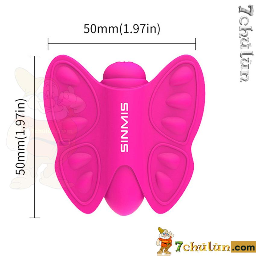 bướm rung kích thích âm vật nalone madam thông số kích thước