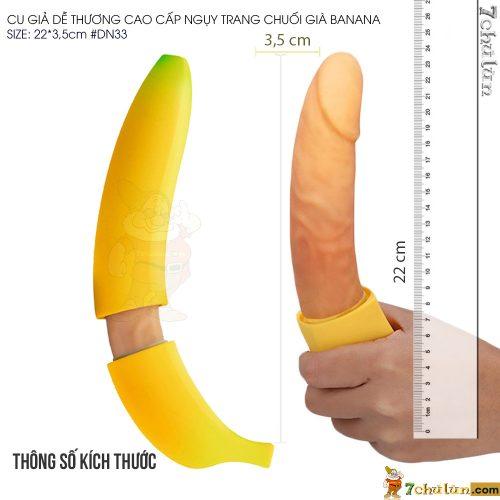 Cu Gia De Thuong Hinh Trai Chuoi Banana thong so kich thuoc