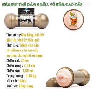 Am Dao Gia Cao Cap Fleshlight 2 Dau Gold Nguy Trang thong tin san pham