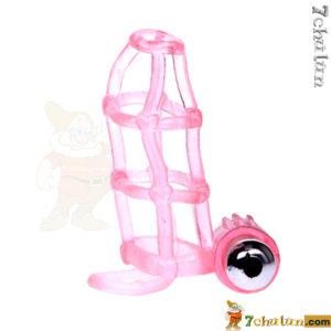 Bao cao su don den luoi rung Sweet Cage thiết kế mới lạ độc đáng có thêm rung làm tăng cảm giác sung sướng