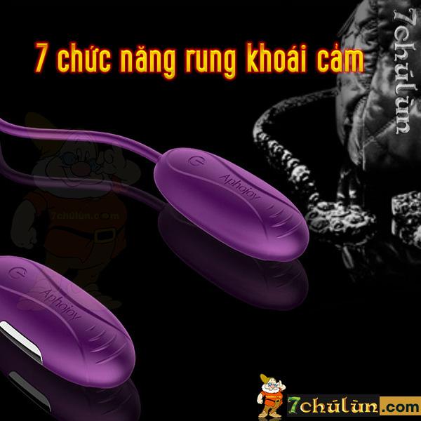 Trung rung tinh yeu kich thich diem G Aphojoy 7 chức năng rung khoái lạc