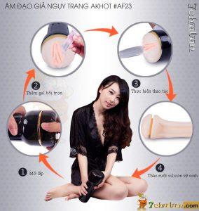 An Dao Gia Silicon Nguy Trang Den Pin AK Hot huong dan su dung
