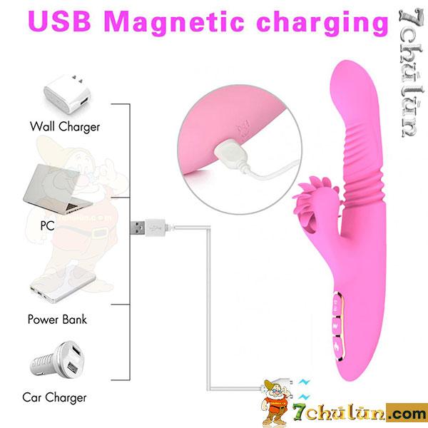 Dương vật Dibe cao cấp sử dụng cổng sạc USB tiện dụng